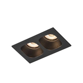 Plafonnier pirro 2 0 noir led 2700k 2x380lm l10cm h4 3cm wever ducre normal