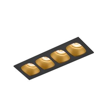 Plafonnier pirro 4 0 noir et or led 2700k 4x380lm l18 8cm h4 3cm wever ducre normal