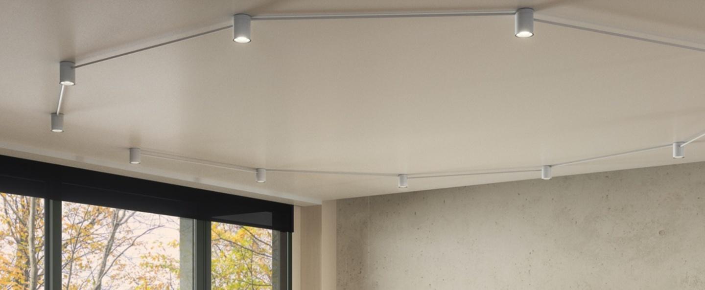 Plafonnier pivot 10 personnalisable blanc led 2700k 6880lm l100cm h9 8cm axo light normal