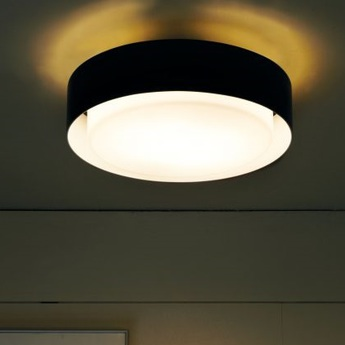 Plafonnier plaff on noir led o20cm 2700k 1050lm marset normal