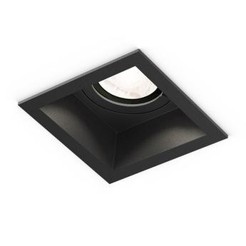 Plafonnier plano ip44 1 0 par16 noir ip44 o8 5cm h10 8cm wever ducre normal