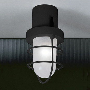 Plafonnier polo anthracite led o13cm h25cm martinelli luce normal