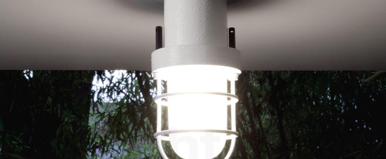 Plafonnier polo blanc led o13cm h25cm martinelli luce normal