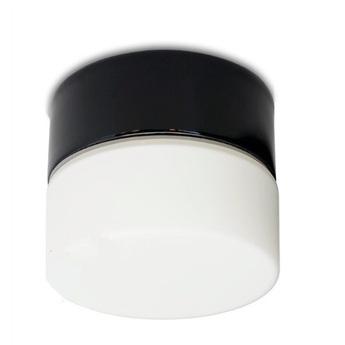 Plafonnier porcelain 017 noir blanc h10cm zangra normal