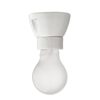 Plafonnier porcelaine blanche grisee blanc h6cm l7 5cm zangra normal