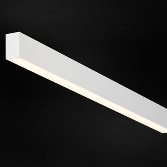 Plafonnier profile ready to go ledliner35 down blanc led 2700k 6030lm dimmable l172cm h6cm l3 5cm doxis normal