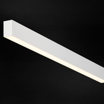 Plafonnier profile ready to go ledliner35 down noir led 3000k 12480lm non dimmable l340cm h6cm p3 5cm doxis normal