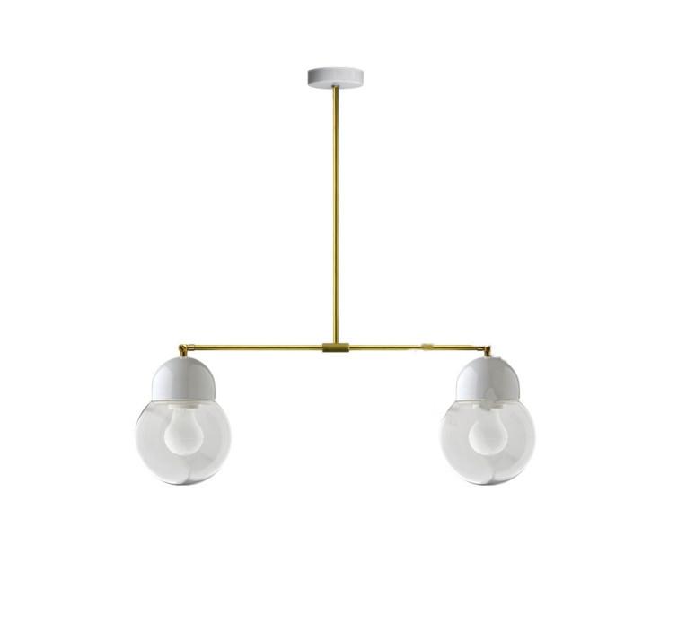 Pure porcelaine glass 006 opalin double   plafonnier ceilling light  zangra light 036 034 w go 006  design signed 42935 product