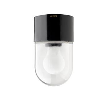 Plafonnier pure porcelaine noir led o5 5cm h8 5cm zangra normal