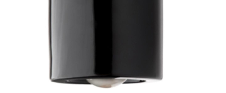 Plafonnier pure porcelaine noir o12cm h14 5cm zangra normal
