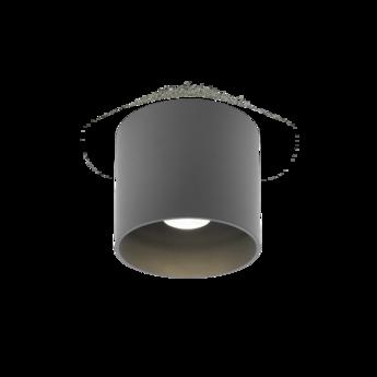 Plafonnier ray 1 0 noir o11 4cm 2700k 580lm 10cm ip65 wever ducre normal