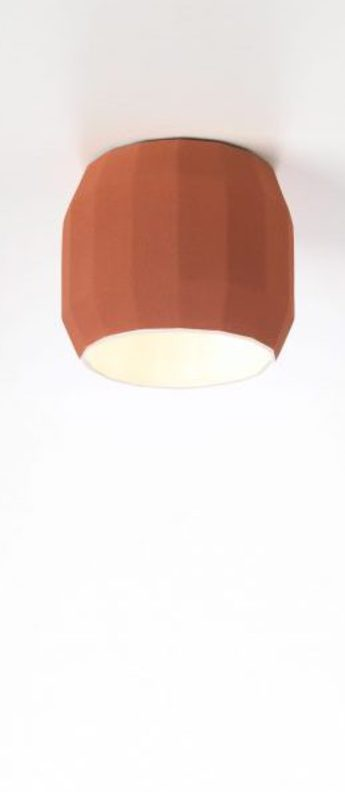 Plafonnier scotch club terracotta blanc o11 8cm h12 9cm marset normal