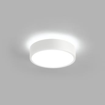 Plafonnier shadow 1 blanc ip54 led 3000k 1100lm o15cm h5cm light point normal