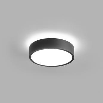 Plafonnier shadow 1 noir ip54 led 3000k 1100lm o15cm h5cm light point normal