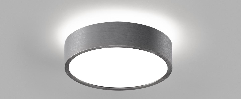 Plafonnier shadow 1 titanium ip54 led 3000k 1100lm o15cm h5cm light point normal