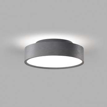 Plafonnier shadow 2 titanium ip54 led 3000k 1800lm o21 5cm h6 5cm light point normal