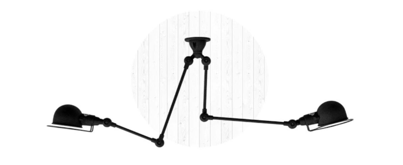 Plafonnier signal si3773 noir brillant o47cm h47cm jielde normal