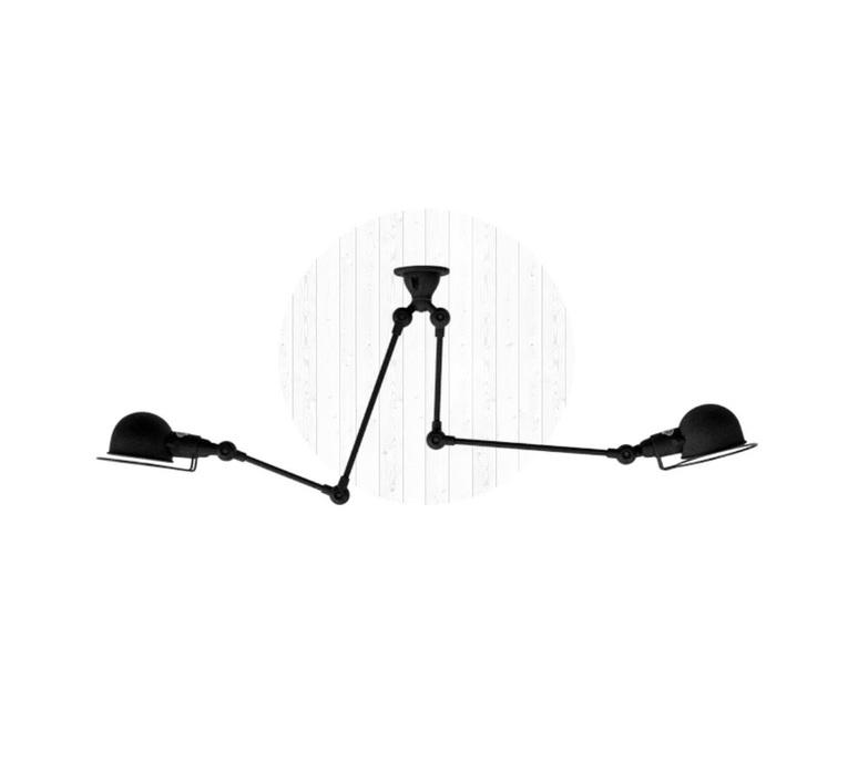 Signal si3773  plafonnier ceilling light  jielde si3773 ral9011 brillant  design signed 57481 product