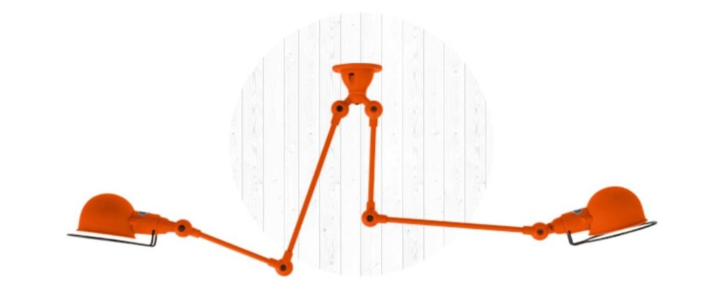 Plafonnier signal si3773 orange brillant o47cm h47cm jielde normal