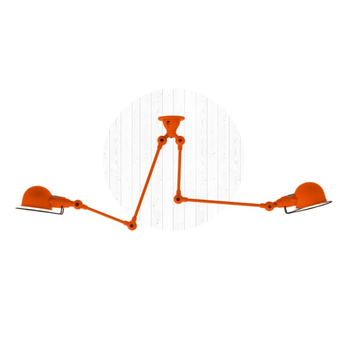 Plafonnier signal si3773 orange brillant o47cm h47cm jielde normal