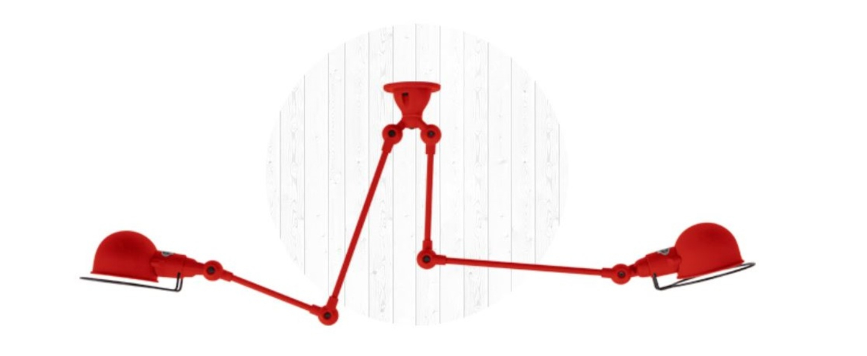 Plafonnier signal si3773 rouge brillant o47cm h47cm jielde normal