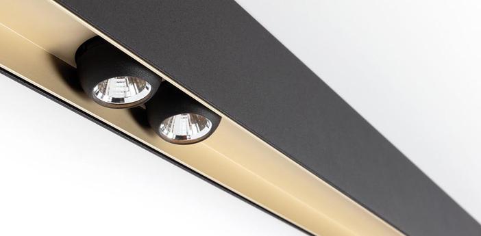 Plafonnier sld50 naked noir led 2700k l184 4cm hcm modular normal
