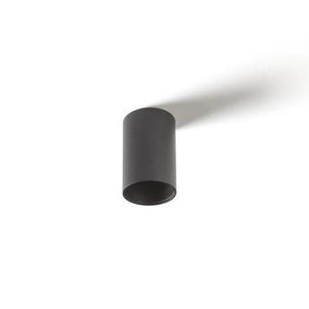 Plafonnier smart surface tubed 82 noir ip55 o8 6cm h13cm modular normal