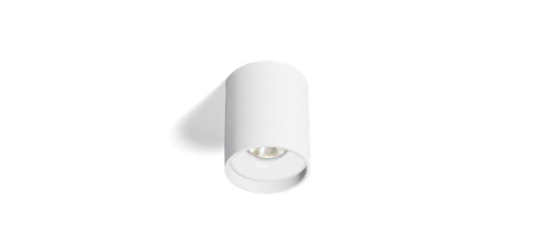 Plafonnier solid 1 0 blanc o10cm h13cm wever ducre normal