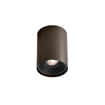Plafonnier solid 1 0 bronze noir o10cm h13cm wever ducre normal