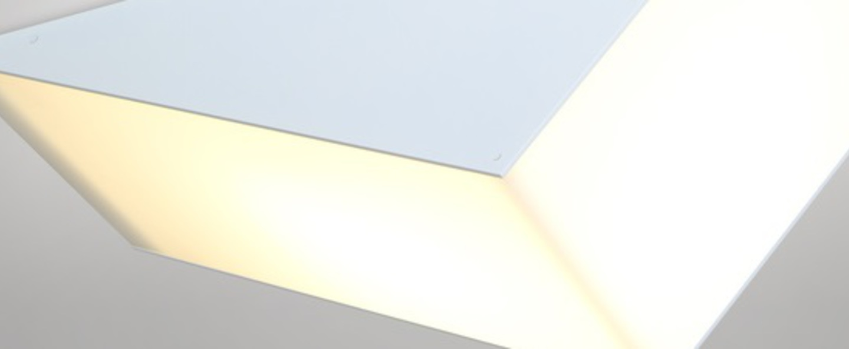 Plafonnier solid blanc l71 5cm h25cm atelier areti normal