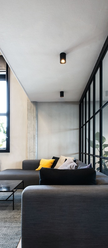 Plafonnier solid ceiling surface 1 0 led dali dim noir led 2700k 710lm o10cm h13cm wever ducre normal