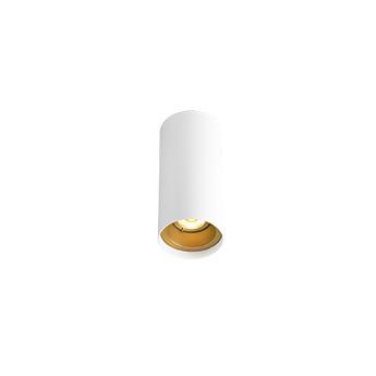 Plafonnier solid petit 1 0 led blanc et or led 3000k 350lm o6cm h13cm wever ducre normal