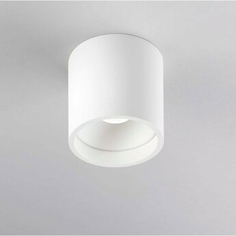 Plafonnier solo 1 blanc ip54 led 3000k 380lm o8cm h8cm light point normal