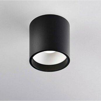 Plafonnier solo 1 noir et blanc ip54 led 3000k 380lm o8cm h8cm light point normal