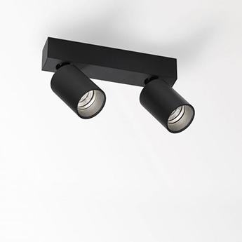 Plafonnier spy on 2 93018 dim8 noir led 3000k 1240lm l24 8cm h13 2cm delta light normal