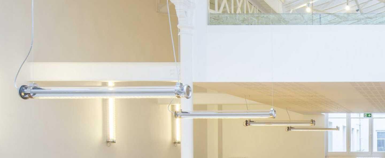 Plafonnier suspension brueghel chrome led o100cm h10cm sammode normal