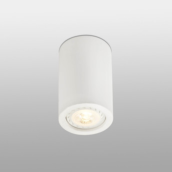 Plafonnier sven led blanc 8w o6 5cm h11cm faro normal