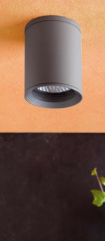 Plafonnier tasa gris o11cm h14cm faro normal
