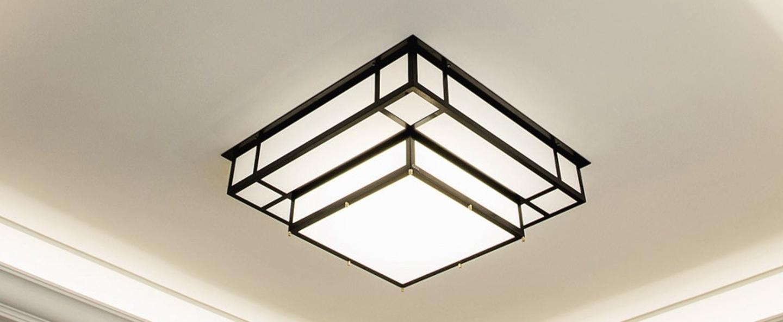 Plafonnier tesseract 900 noir led 3000k 7500lm o90cm h30cm raphael armand normal