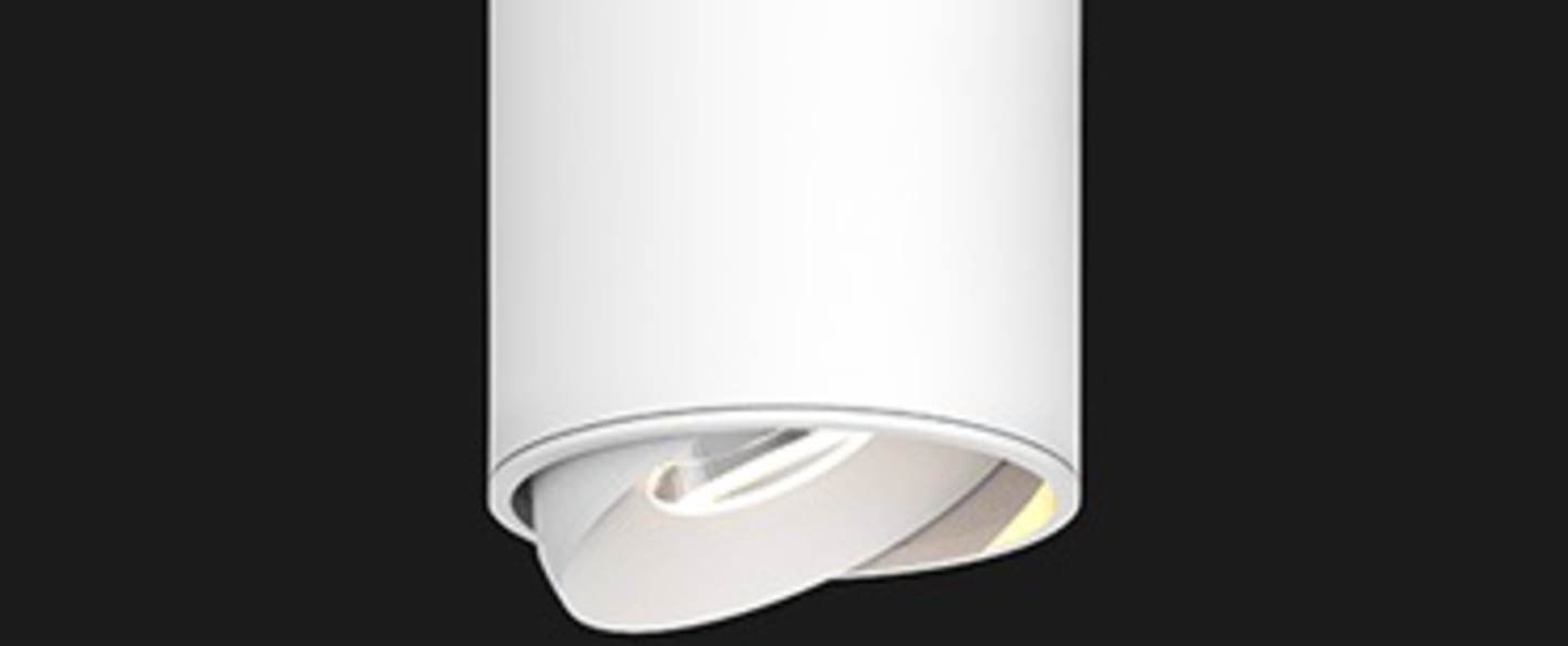 Plafonnier titan 200 surface mounted cone blanc led 2700k 836lm o8cm h20cm doxis normal