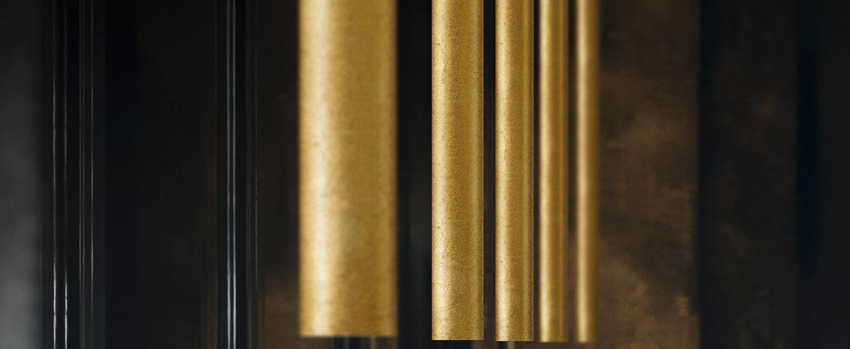 Plafonnier to be laiton 0o5 5cm h45cm panzeri normal
