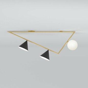 Plafonnier triangle 2 laiton brosse l101 2cm h44 6cm atelier areti normal