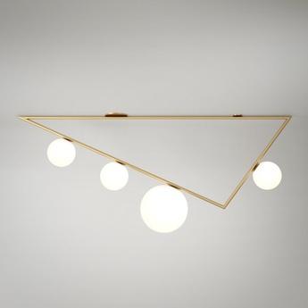 Plafonnier triangle 3 1 1 5m laiton l150cm h50cm atelier areti normal