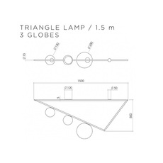 Triangle 3 1 5m  gwendolyn et guillane kerschbaumer plafonnier ceilling light  atelier areti triangle 150 03 brass  design signed 44047 thumb