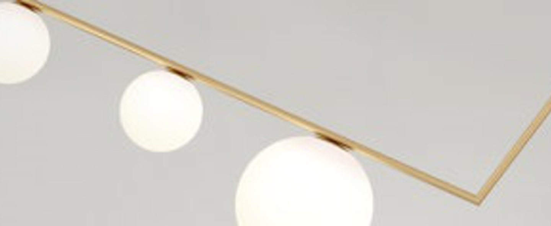 Plafonnier triangle 3 1m laiton l100cm h33 3cm atelier areti normal