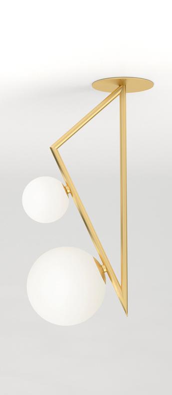 Plafonnier triangle and globe laiton l30cm h65 2cm atelier areti 854b5784 f05c 4dc5 9e1b 6a61a472a030 normal