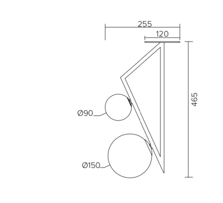 Triangle and globe gwendolyn et guillane kerschbaumer plafonnier ceilling light  atelier areti 329ol c04 br01   design signed nedgis 73846 product