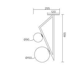 Triangle and globe gwendolyn et guillane kerschbaumer plafonnier ceilling light  atelier areti 329ol c04 br01   design signed nedgis 73846 thumb