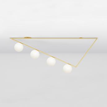 Plafonnier triangle girlande laiton l139 4cm h61 2cm atelier areti normal