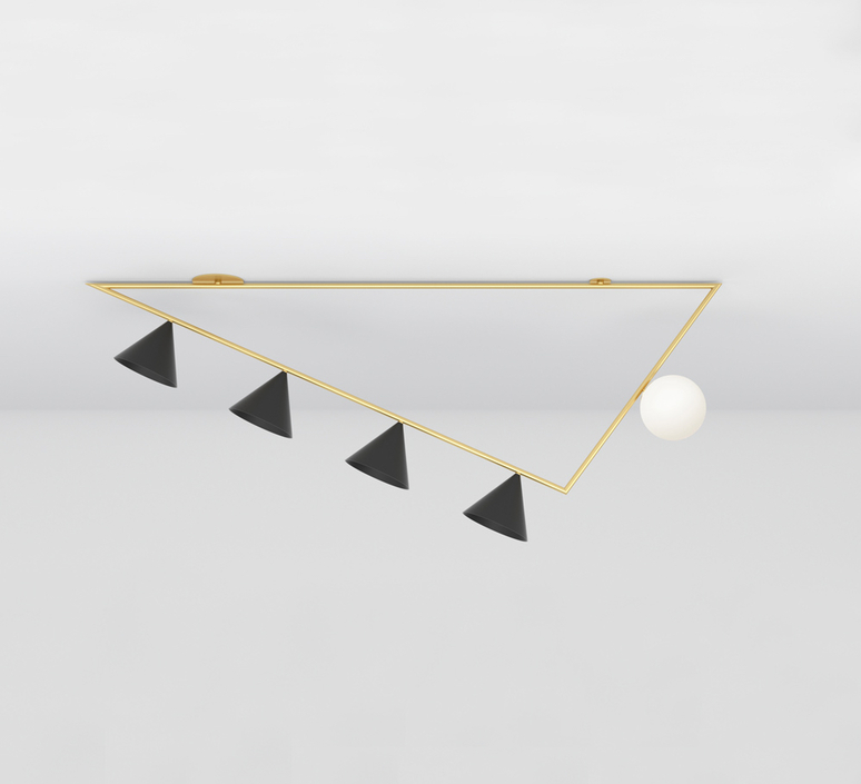 Triangle girlande gwendolyn et guillane kerschbaumer plafonnier ceilling light  atelier areti 385ol c03 br01   design signed nedgis 73520 product